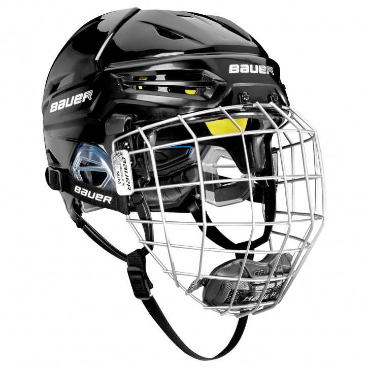 BAUER Helm mit Gitter RE-AKT 95 -combo Sr.